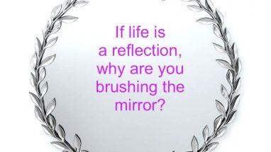 Beautiful silver mirror