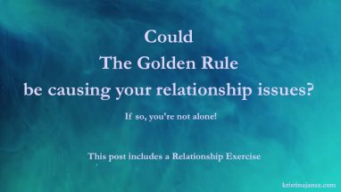 Beautiful blue background Could The Golden Rule be causing your Relationship issues?
